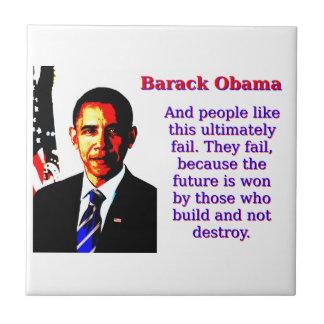 And People Like This - Barack Obama Tile