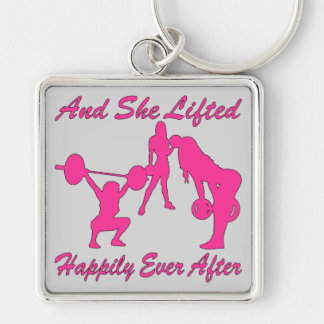 And She Lifted Weights Happily Ever After Key Ring