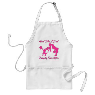 And She Lifted Weights Happily Ever After Standard Apron