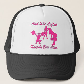 And She Lifted Weights Happily Ever After Trucker Hat