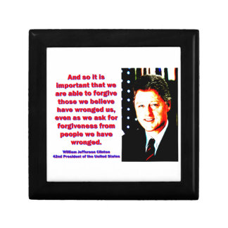 And So It Is Important - Bill Clinton Gift Box
