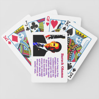 And So Long As Free Peoples - Barack Obama Bicycle Playing Cards