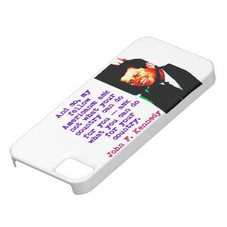 And So My Fellow Americans - John Kennedy iPhone 5 Cover
