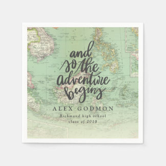 AND SO THE ADVENTURE BEGINS PAPER NAPKIN