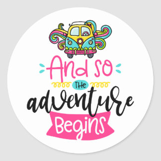 And So the Adventure Begins Sticker Set