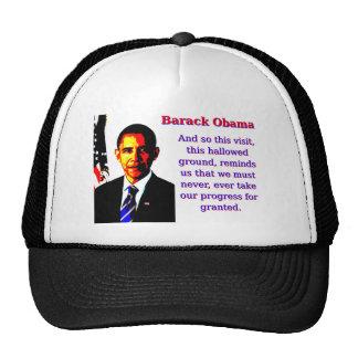 And So This Visit - Barack Obama Cap