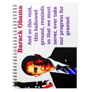 And So This Visit - Barack Obama Note Book