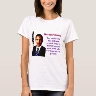 And So This Visit - Barack Obama T-Shirt