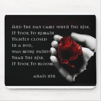 """and the day came..."" photo mousepad with rose"