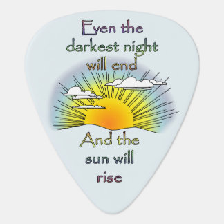 And the Sun Will Rise Plectrum