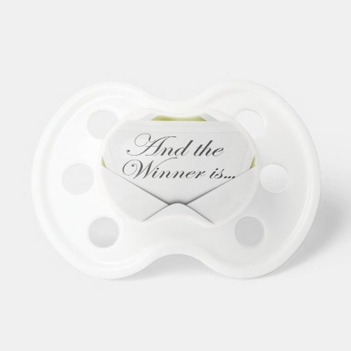 And the winner is envelope baby pacifier