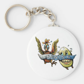 And the winner is? basic round button key ring