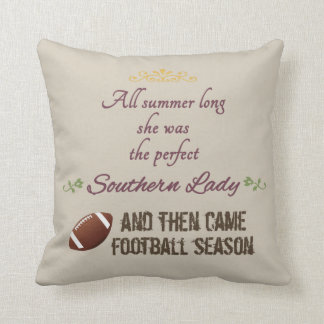 ...And Then Came Football Season Cushion