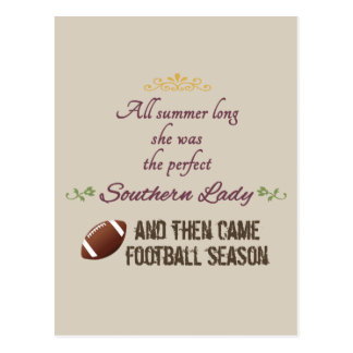 ...And Then Came Football Season Postcard