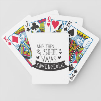 and then she was invincible bicycle playing cards