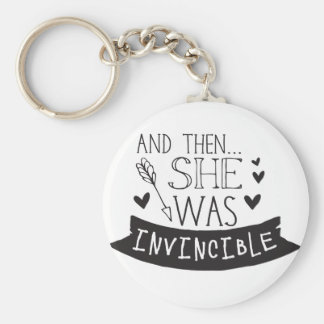 and then she was invincible key ring