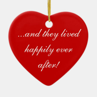 ...and they lived happily ever after! ceramic heart decoration
