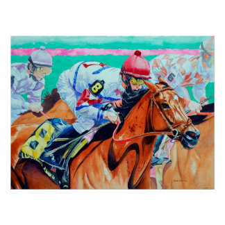 And They're Off, Horse Racing Poster