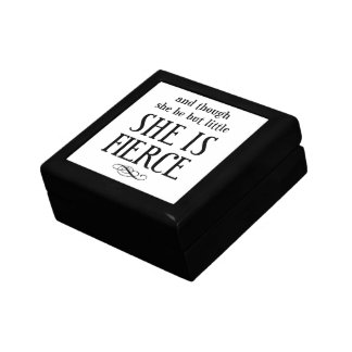 And though she be but little, she is fierce small square gift box