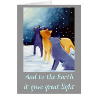 And to the Earth it gave Great Light Note Card