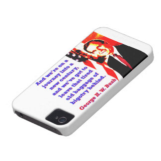 And We're On A Journey - George H W Bush Case-Mate iPhone 4 Cases
