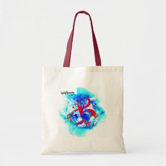 """AND wolf"" by Nick Budget Tote Bag"