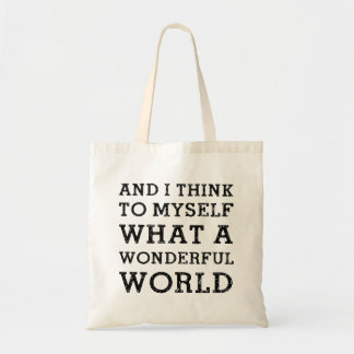 And Wonderful World Budget Tote Bag