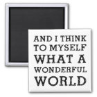 And Wonderful World Magnet