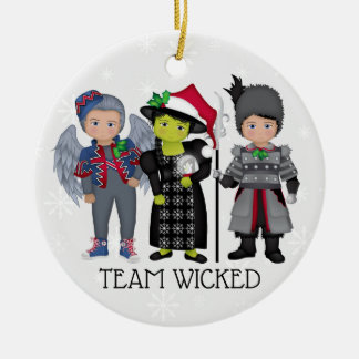 And Your Little Dog ToO!  Team Wicked Ceramic Ornament