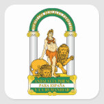 Andalucia (Spain) Coat of Arms Square Stickers