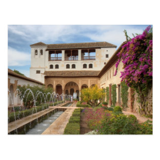 Andalusia - Generalife of the Alhambra postcard