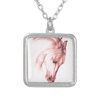 Andalusian Beauty In Sepia Silver Plated Necklace