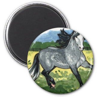 Andalusian Dapple Grey Horse Art Magnet