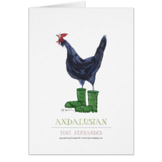 Andalusian Hen, tony fernandes Greeting Card