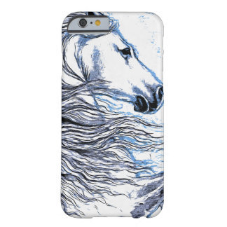 Andalusian Horse blue Barely There iPhone 6 Case