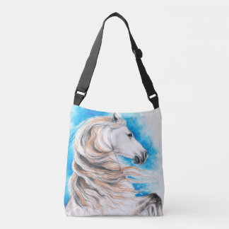 Andalusian Horse Blue Crossbody Bag