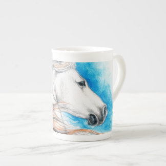 Andalusian Horse Blue Tea Cup