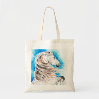 Andalusian Horse Blue Tote Bag