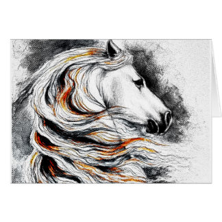 Andalusian Horse Comic Card