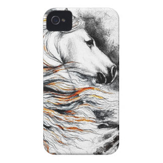Andalusian Horse Comic iPhone 4 Case-Mate Case