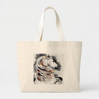 Andalusian Horse Comic Large Tote Bag