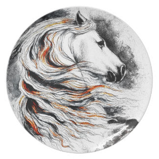 Andalusian Horse Comic Plate