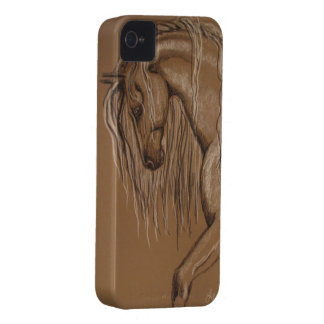 Andalusian Horse Sketch Case-Mate iPhone 4 Cases