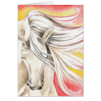 Andalusian Sunshine Horse Card