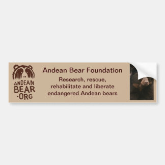 Andean Bear Foundation Bumper Sticker