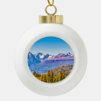 Andean Patagonia Landscape, Aysen, Chile Ceramic Ball Christmas Ornament