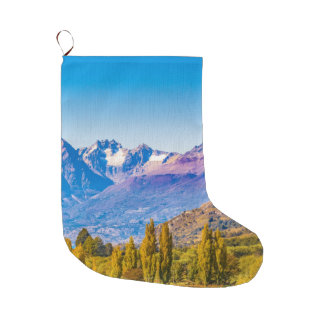 Andean Patagonia Landscape, Aysen, Chile Large Christmas Stocking