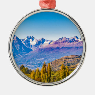 Andean Patagonia Landscape, Aysen, Chile Metal Ornament