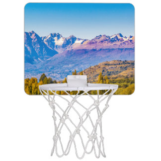 Andean Patagonia Landscape, Aysen, Chile Mini Basketball Hoop