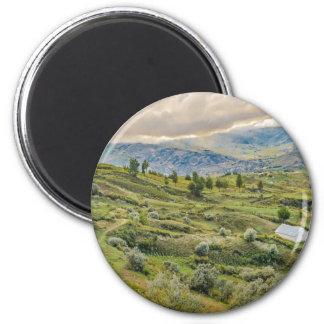 Andean Rural Scene Quilotoa, Ecuador 6 Cm Round Magnet
